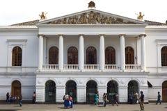 Театр Сукре национальный на Площади del Teatro в Кито, эквадоре стоковое фото rf