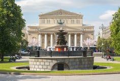 Театр театра Bolshoi большой в Москве, России стоковое изображение