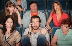 театр телефона человека Стоковая Фотография RF