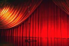 театр шикарного микрофона ретро Стоковое фото RF