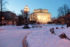 Театр Alexandrinsky в Санкт-Петербурге, России Стоковые Фотографии RF