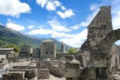 театр aosta римский стоковое изображение rf
