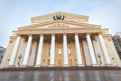 Театр Bolshoi в зимнем времени стоковые изображения rf