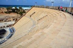 театр caesarea римский Стоковые Фото