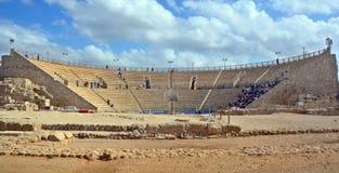 театр caesarea римский Стоковое фото RF