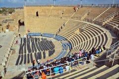 театр caesarea римский Стоковые Изображения