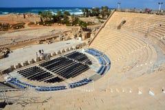театр caesarea римский Стоковая Фотография RF