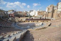 Театр Cartagena Испании римский стоковые фотографии rf