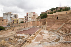 театр cartagena римский Стоковая Фотография