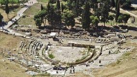 Театр Dionysos на акрополе, Афин, Греции Стоковое фото RF