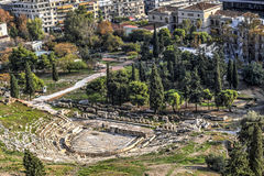Театр Dionysus в Афинах Стоковая Фотография RF