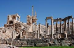 Театр, Dougga, Тунис стоковые изображения