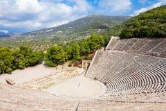 Театр Epidaurus старый, Греция стоковые изображения rf