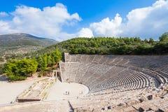 Театр Epidaurus старый, Греция Стоковое Фото