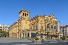 Театр Eugenia Виктория, San Sebastian, Испания стоковая фотография