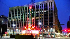Театр Fox Детройта Стоковое Фото