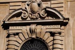 Театр Gioacchino Rossini оперы стоковые изображения rf
