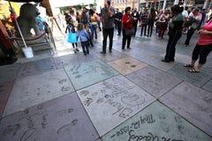 Театр Grauman китайский, Голливуд, Лос-Анджелес, США Стоковая Фотография RF