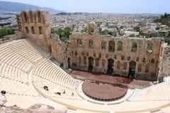 театр herod atticus стоковое изображение rf