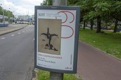 Театр Jubileumprogramma NDT Nederlands Dans афиши на Амстердаме Нидерланд 2019 стоковые изображения