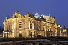 Театр Juliusz Slowacki в Кракове Стоковое фото RF