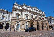 Театр La Scala Scala alla Teatro Главный оперный театр в милане Рассматриваемое один из самых престижных театров в wor Стоковые Изображения RF