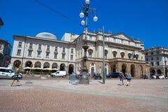 Театр La Scala Scala alla Teatro Главный оперный театр в милане Рассматриваемое один из самых престижных театров в wor Стоковые Изображения