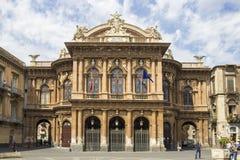 Театр Massimo Bellini, Катания, Италия Стоковые Фотографии RF