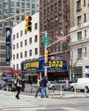 Театр NYC Ed Sullivan Давид Леттерман стоковое фото