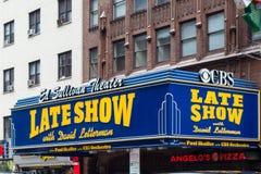 Театр NYC Ed Sulliven Давид Леттерман стоковые фото
