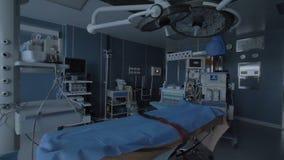 Театр Operating, пустая хирургия в современной клинике 4K сток-видео