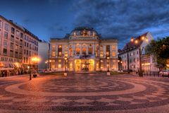 Театр Slovak национальный в Братислава стоковое фото