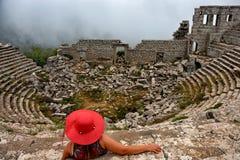 Театр Termessos Стоковое Изображение RF
