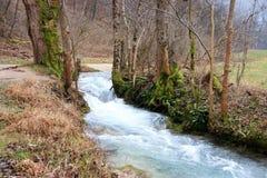 Теките около холмов - зоны Бадена-Wurttemberg в Германии Стоковые Фото