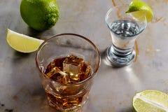 Текила и виски сочетания из Стоковое Изображение