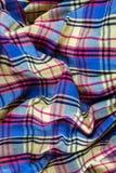 Текстильная ткань с pleats в коробке текстура скомканного fabr стоковые изображения