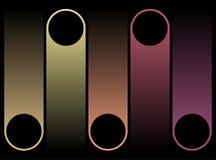Текстовое поле, шаблоны - иллюстрация вектора Стоковые Изображения