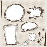 Текстовое поле шаржа Стоковая Фотография RF