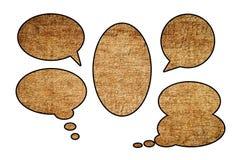 Текстовое поле Grunge коричневое Стоковое Фото