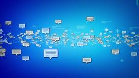 Текстовые сообщения голубые иллюстрация штока