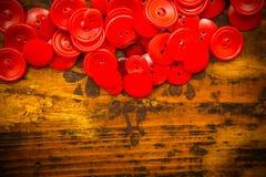 Текстовый участок красной кнопки Стоковые Фотографии RF