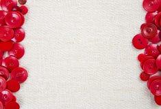 Текстовый участок красной кнопки Стоковая Фотография RF