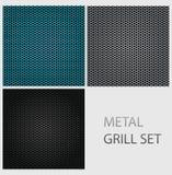 текстура абстрактного металла утюга крома установленная Стоковая Фотография