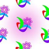 текстура абстрактного цветка безшовная Стоковое Фото