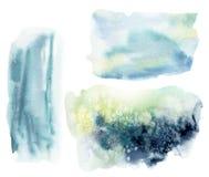 Текстура акварели подводная абстрактная Рука покрасила предпосылку моря или океана Акватическая иллюстрация для дизайна, печать и бесплатная иллюстрация