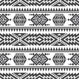 Текстура американского ацтекского вектора безшовная Родная племенная индийская повторяющийся картина иллюстрация штока