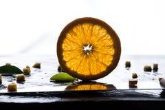 Текстура апельсина на белой предпосылке Стоковые Фотографии RF