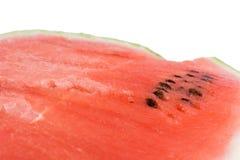 Текстура арбуза над белизной стоковое изображение