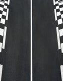 Текстура асфальта гонки и обочина Grand Prix шахмат обходят вокруг Стоковые Изображения
