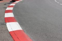 Текстура асфальта и обочины гонки мотора на GP Монако Стоковая Фотография
